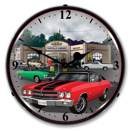 1970 Chevelle Lighted Wall Clock