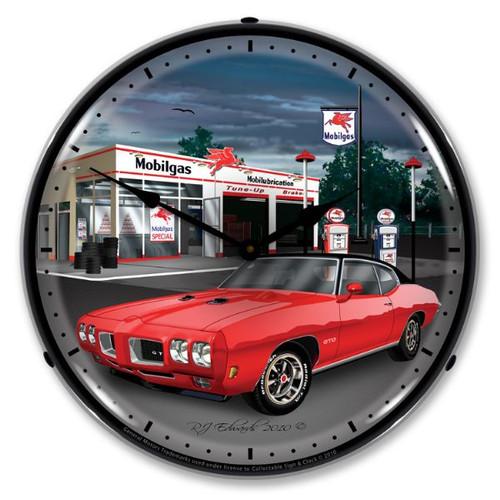 1970 GTO Mobilgas Lighted Wall Clock