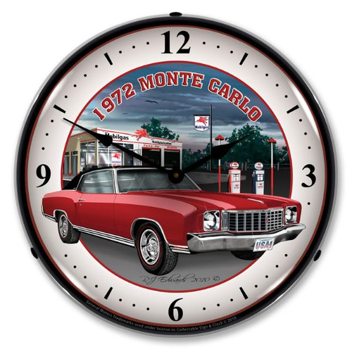 1972 Monte Carlo Lighted Wall Clock