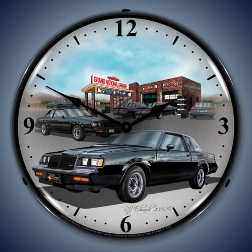 Retro  1987 Buick Grand National Lighted Wall Clock 14 x 14 Inches