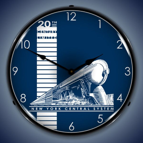 Retro  20th Century Limited Lighted Wall Clock 14 x 14 Inches