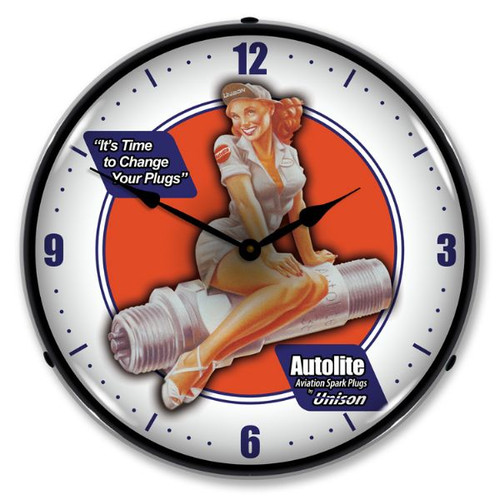 Autolite Avaition Lighted Wall Clock