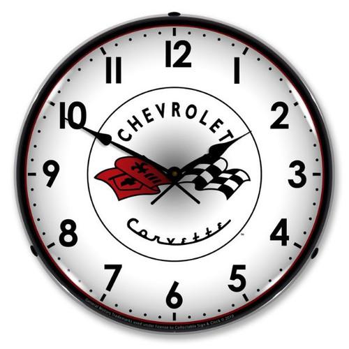 C1 Corvette Lighted Wall Clock