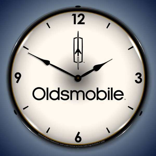 Retro  Oldsmobile Lighted Wall Clock 14 x 14 Inches