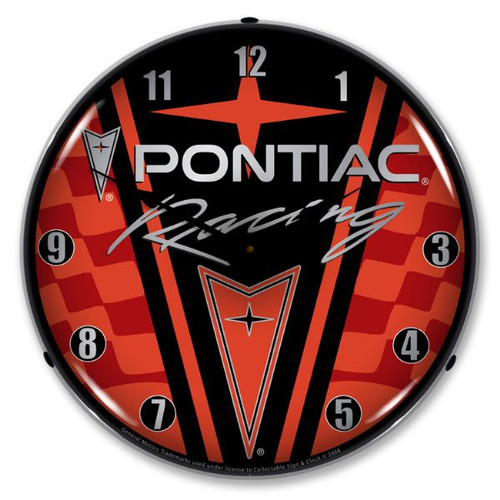 Pontiac Racing Lighted Wall Clock