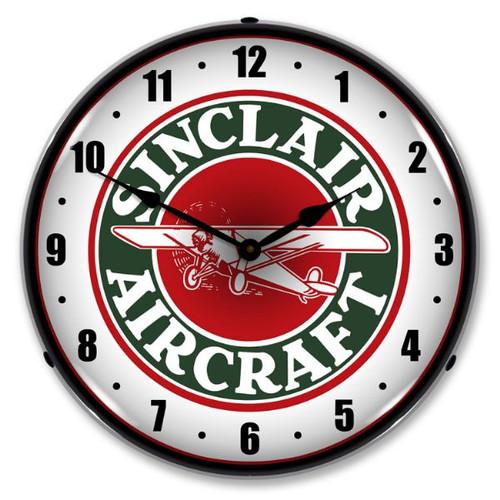 Sinclair Aircraft Lighted Wall Clock