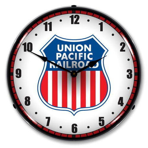 Union Pacific Railroad Lighted Wall Clock