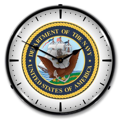 US Navy Lighted Wall Clock