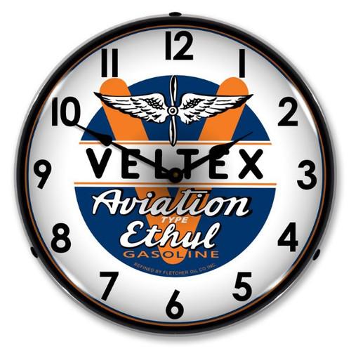 Veltex Avaition Lighted Wall Clock