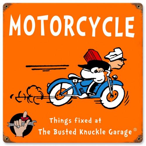 Vintage Kids Motorcycle Metal Sign 12 x 12 inches