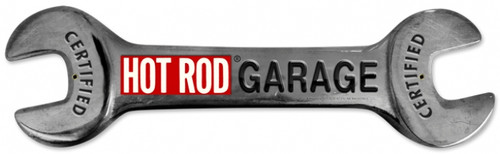 Vintage Hot Rod Wrench 24 x 7 inches Metal Sign