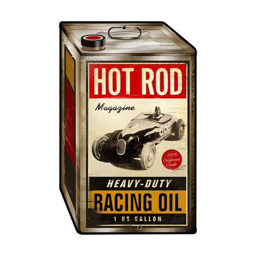 Vintage Racing Oil Metal Sign 12 x 19 Inches Inches