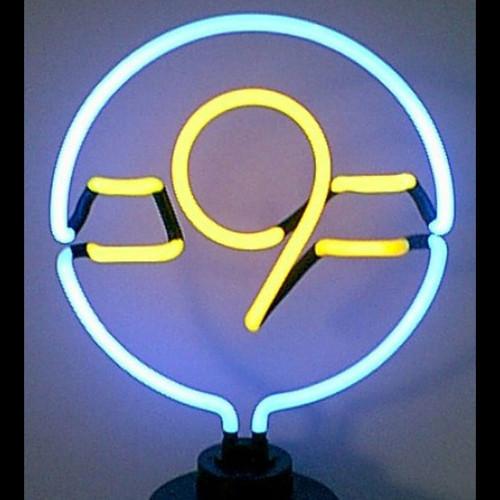 Retro 9 Ball Neon Sculpture  12 W  X 14 H X 6 D