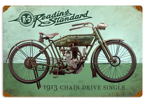 Retro Reading Standard Metal Sign 18 x 12 Inches