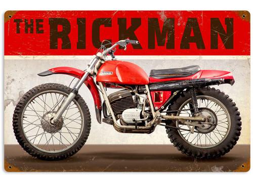 Retro The Rickman Metal Sign 18 x 12 Inches