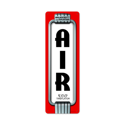 Retro Air Eco Metal Sign 8 x 24 Inches