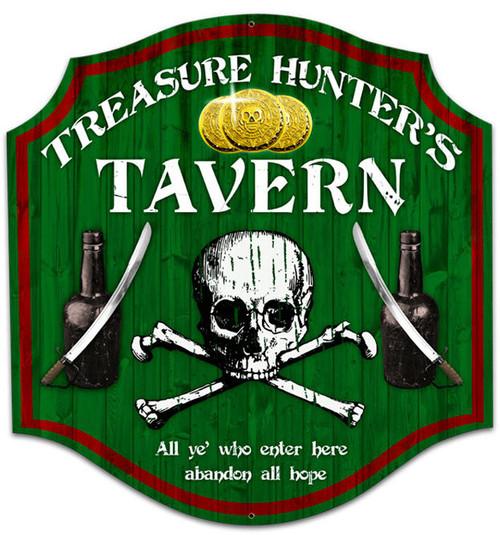 Retro Treasure Hunter Custom Metal Shape Sign 20 x 20 Inches