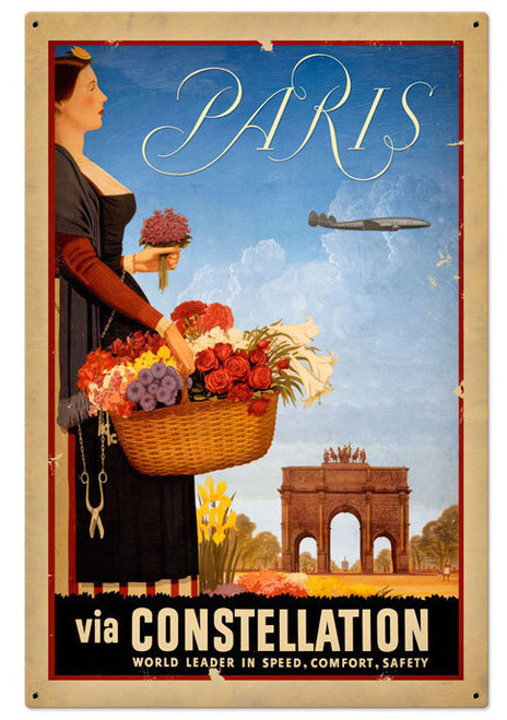 Paris Foreign Language Metal Sign 24 x 36 Inches