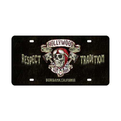Skull Pistons Automotive License Plate 15 x 6 Inches