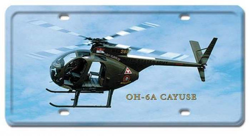 Vintage OH-6A Cayuse License Plate 6 x 12 Inches