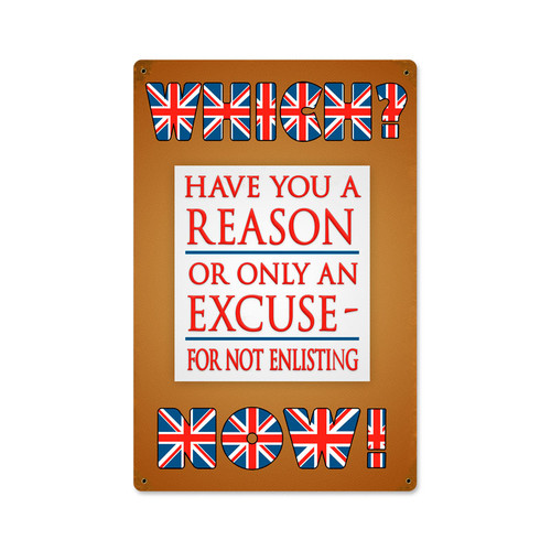 Which Now Enlisting Metal Sign 12 x 18 Inches