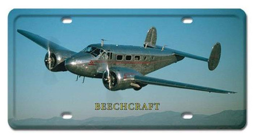 Vintage BEECHCRAFT License Plate 6 x 12 Inches
