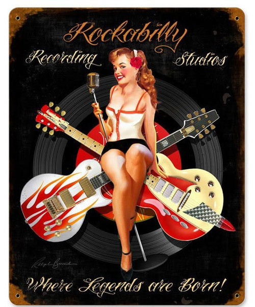 Rockabilly Recording Vintage Metal Sign 12 x 15 Inches