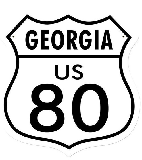 Georgie US 80 Shield Metal Sign  15 x 15 Inches
