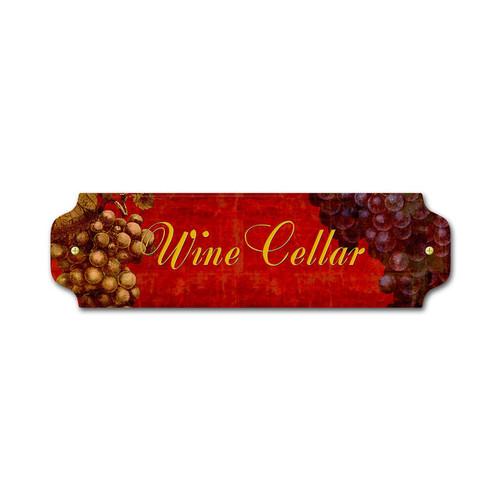 Vintage Wine Cellar Door Push 12 x 3 Inches
