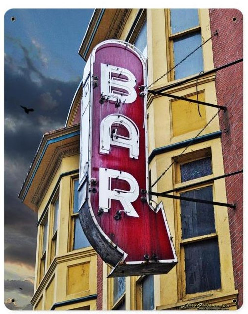 Bar Metal Sign 12 x 15 Inches