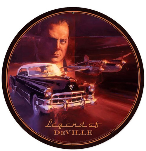 Legend Of DeVille Round Round Metal Sign 14 x 14 Inches