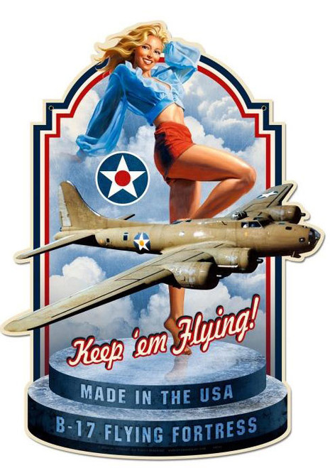 Retro Made In The USA Custom  Shape Metal Sign 21 x 28 Inches