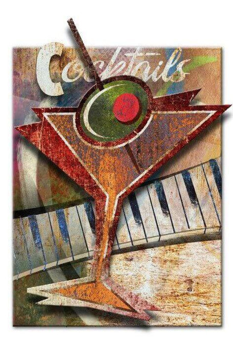 Cocktails 3D Rustic Sign 18 x 24 Inches