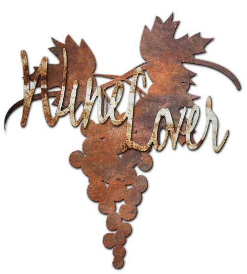 Wine Lover Custom Shape Metal Sign 24 x 24 Inches