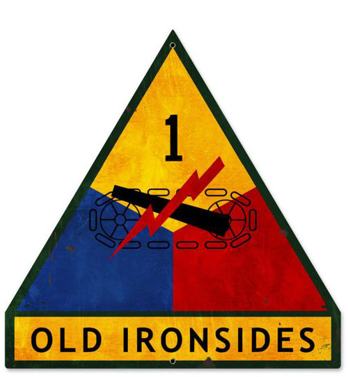 Old Ironsides Custom Shape Metal Sign 16 x 16 Inches