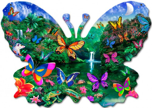 Butterfly Shape Metal Sign 20 x 14 Inches