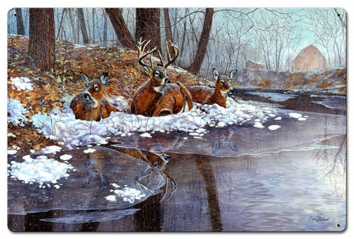 Creekside Metal Sign 24 x 16 Inches