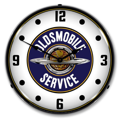 Oldsmobile Service Lighted Wall Clock 14 x 14 Inches