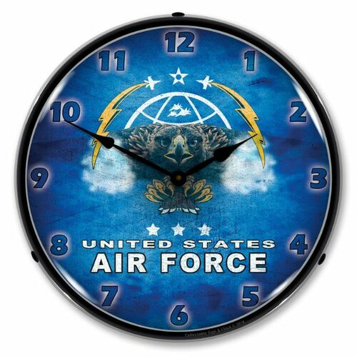 United States Air Force Lighted Wall Clock 14 x 14 Inches