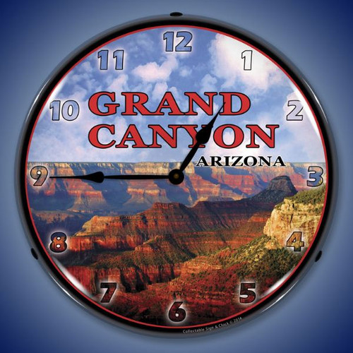 Grand Canyon Lighted Wall Clock 14 x 14 Inches
