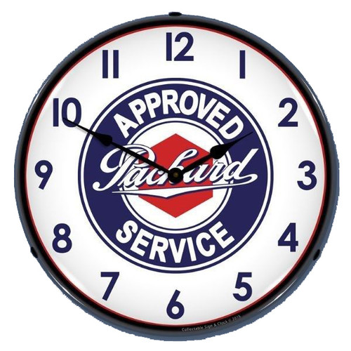 Packard Lighted Wall Clock 14 x 14 Inches