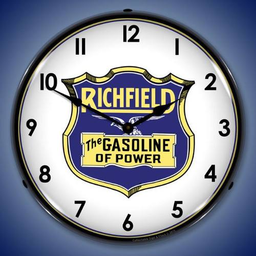 Richfield Gasoline  Lighted Wall Clock 14 x 14 Inches