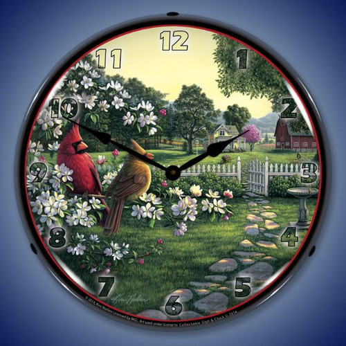 Country Music Lighted Wall Clock 14 x 14 Inches