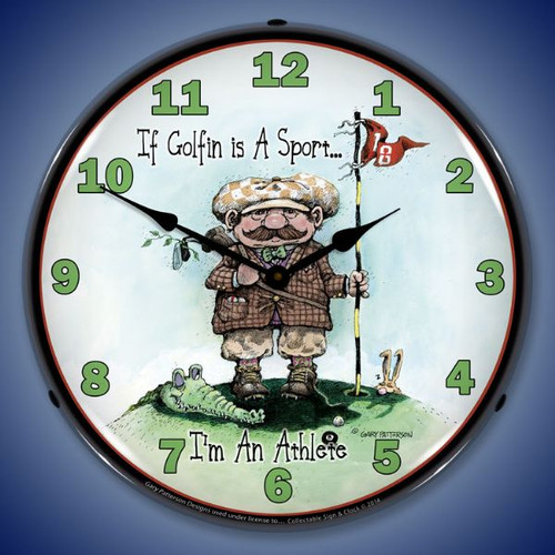 Golf is a Sport Lighted Wall Clock 14 x 14 Inches