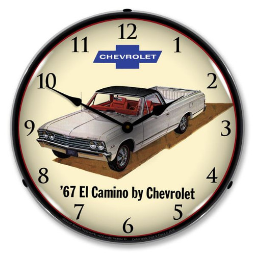 1967 Chevrolet El Camino Lighted Wall Clock 14 x 14 Inches