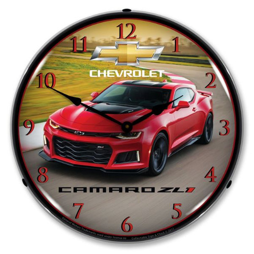 2017 Camaro ZL1 Lighted Wall Clock 14 x 14 Inches