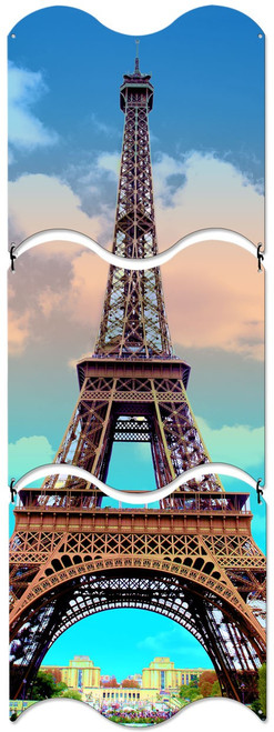 Eiffel Tower Triptych Metal  Sign 12 x 36 Inches