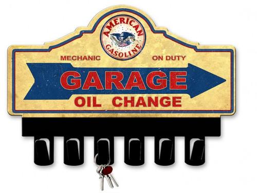 American Gas Metal Key Hanger 14 x 10 Inches