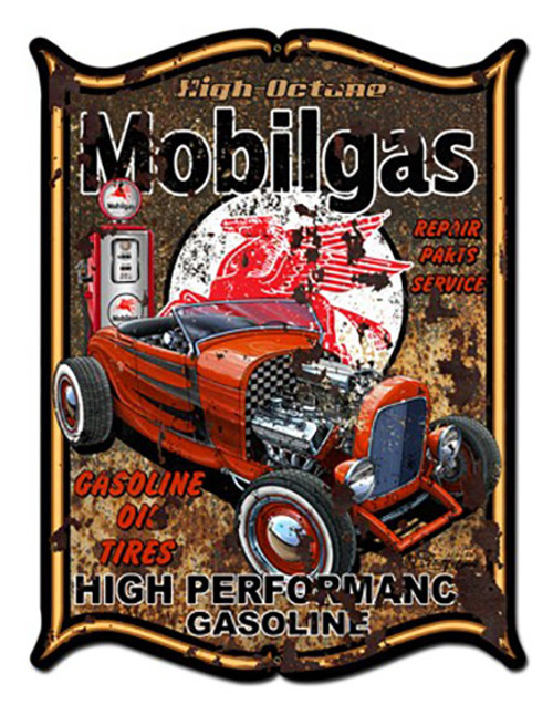 Mobilgas Metal Sign 24 x 33 Inches