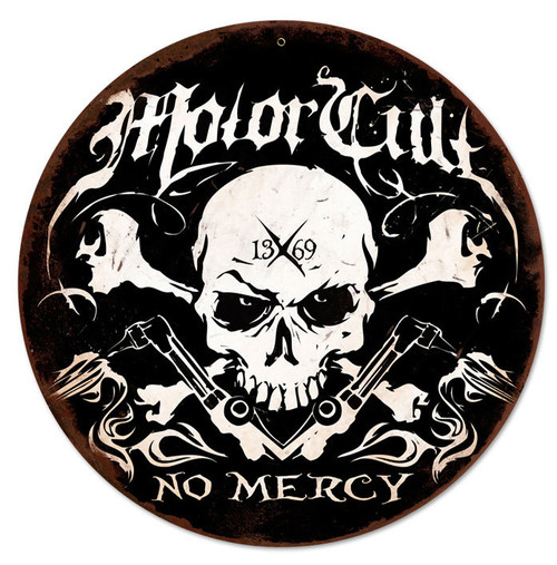 No Mercy Metal Sign 14 x 14 Inches